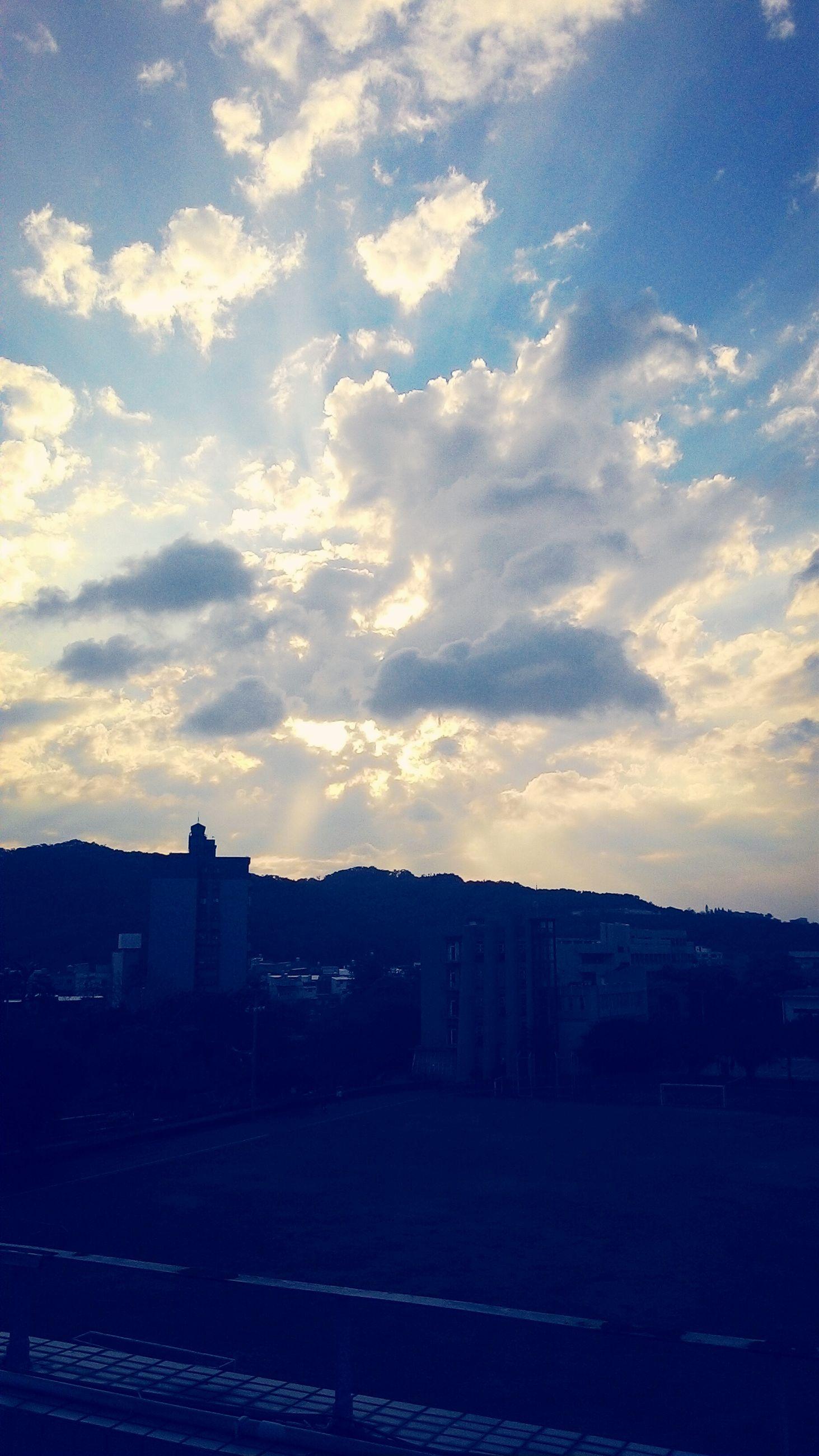 building exterior, architecture, built structure, sky, cloud - sky, sunset, silhouette, house, cloud, residential structure, residential building, city, outdoors, landscape, no people, cloudy, dusk, road, nature, town