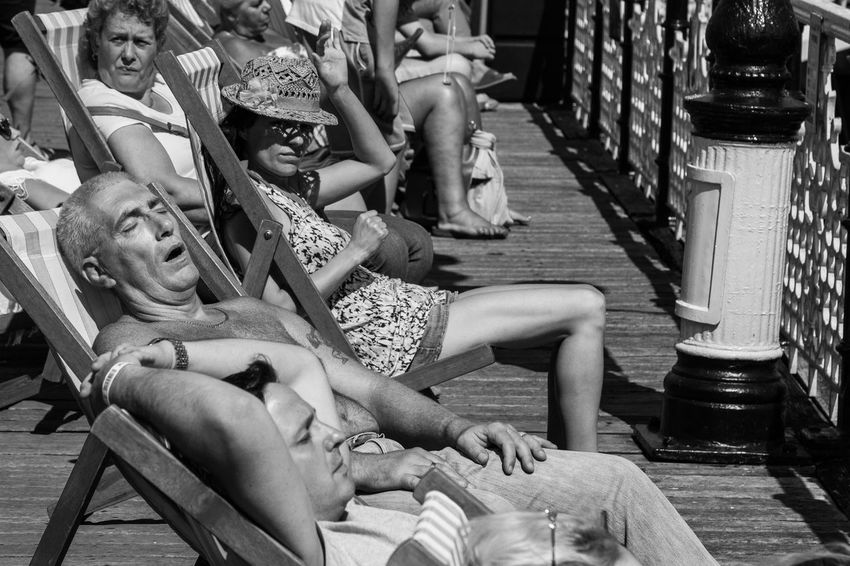 British summertime Summer Seaside Brighton Blackandwhite People People Watching British Summertime Relaxing Sun Sunbathing Streetphotography Beach Monochrome Photography