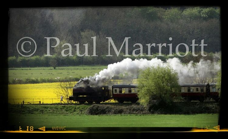 Man being chased by steam train Train Steam Train