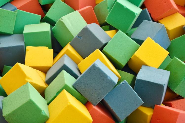 Full frame shot of multi colored sponge