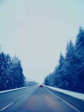 Fast And Furious Winter Wonderland Winter Landscape Cold Morning ☀️❄️🌬🌞☃️ ❄️ Snow EyeEm Best Shots EyeEm Nature Lover EyeEmNewHere 😚 Road The Way Forward Highway Driving Winter Transportation Snow