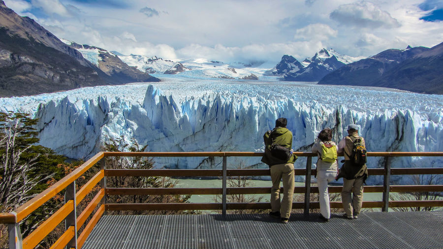 enjoying the view? Argentina Beauty In Nature Cloud - Sky Environment Glacier Global Warming Idyllic Leisure Activity Looking At View Mountain Range Nature Non-urban Scene Outdoors Patagonia Planet Remote Scenics Ice Age Tourism Tourist Tranquil Scene Tranquility Travel Destinations Traveling Vacations