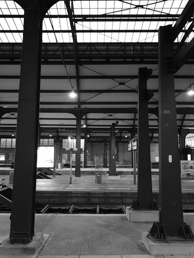 Built Structure Architecture Indoors  Architectural Column Day No People Wiesbaden, Germany Train Station City Men Toilet Black & White Black And White Photography