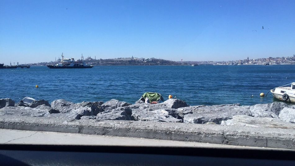 Clear Sky Sea Istanbul Day Nature