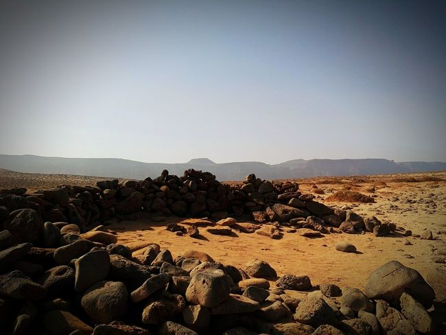 EyeEm Selects Desert Clear Sky Nature No People Outdoors Lagraciosa Rocks Islandlife Summer Excursion In The Natur Lanzarote Island Walking Away Other Perspectives EyeEmBestPics EyeEm Best Shots EyeEm Best Shots - Nature Lost In The Landscape