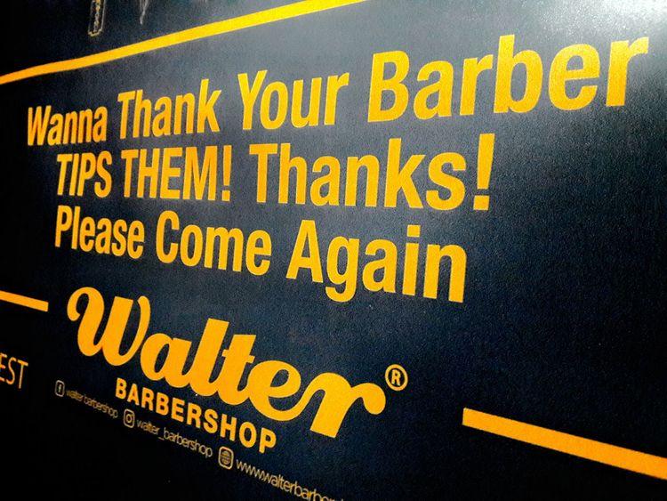 Text Yellow Thankyou Barbershop