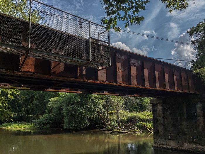 Brandywine bridge - Bridge Brandywine Creek Chaddsford, Pennsylvania Water Reflection Sky Clouds Tree Connection Architecture Bridge - Man Made Structure Day Built Structure Cloud - Sky No People Outdoors Nature
