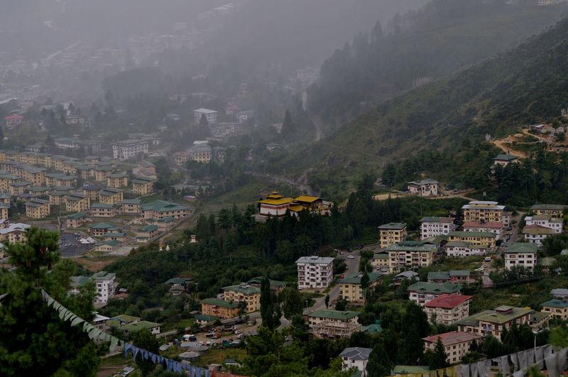 A view of thimpu city from bhutan broadcasting services' tower. arindam mukherjee.