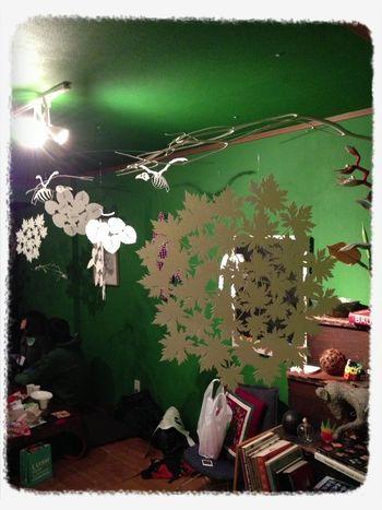 大阪のシェアメイトの彼女さんが活動してるアートグループの展示会に参加中!!
