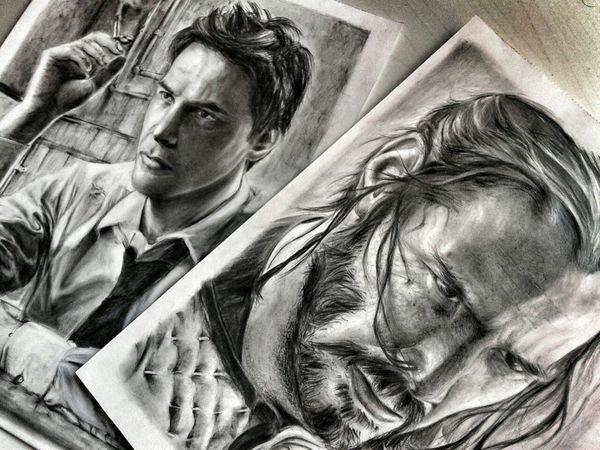 Art Creativity Drawing Keanu Reeves Low Angle View Portrait Sketch Sketch Art