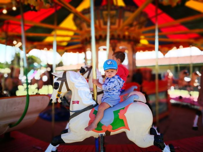 Carnival Time New Zealand Child Childhood Toddler  Carnival Horse Play Fairground Merry Go Round