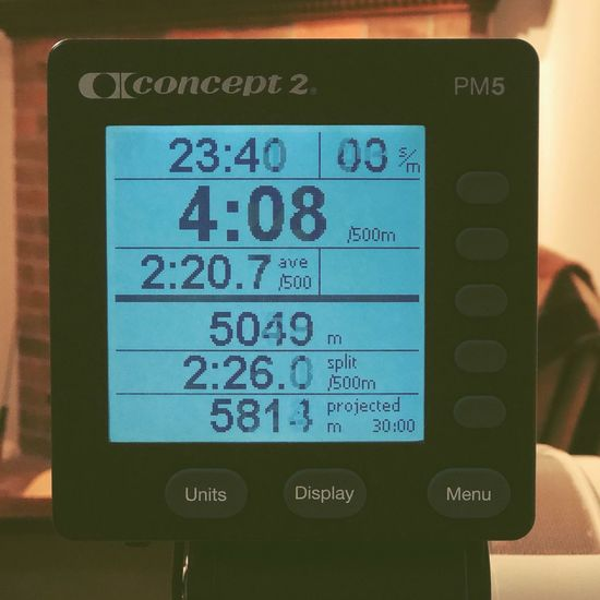 5049M Home Workout Bokeh Cardiovascular Health Cardio Rowing Rower Communication Text Western Script Number Digital Display Guidance Device Screen Technology Close-up Gauge Indoors