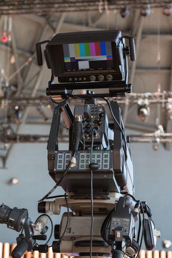 Movie camera at studio