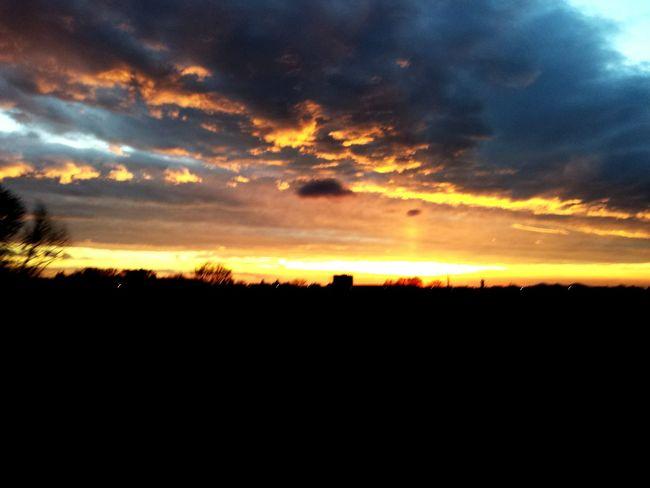 Sunset Burning Sky