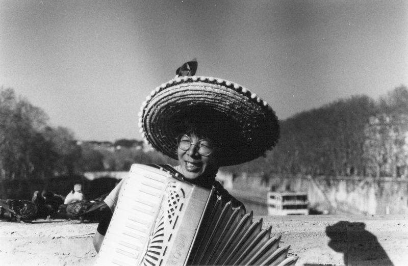 Happiness Man Wall Accordion Adult Black And White Blackandwhite Close-up Concertina Day Eyesclosed Hat Headshot Nature One Person Outdoors People Real People Shadow Sky Smile Smile :) Squeezebox Tree Young Adult