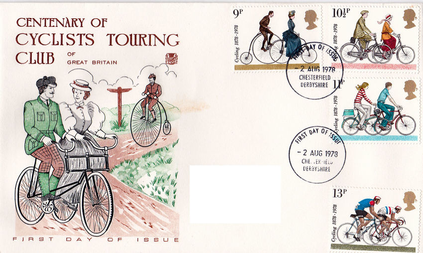 Bicycle Day Bicycles No People Penny Farthing Centenary  Commemorative Stamps First Day Covers 1878 - 1978 Cyclists Touring Club