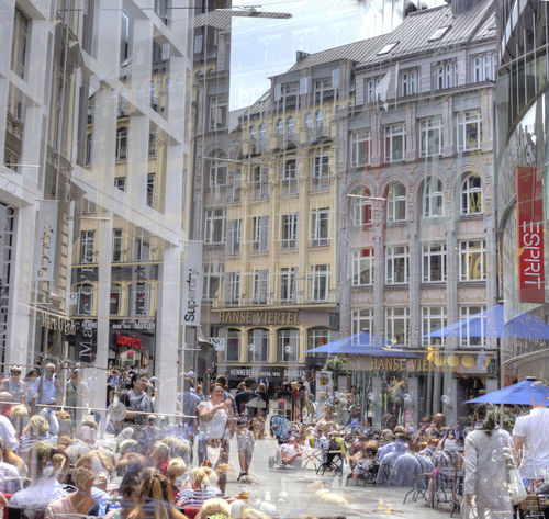 Purchase-Street Gerhofstrasse, Hamburg, Germany Europe Architecture Building Exterior City Crowd Cultures Day Gerhard Richter Gerhofstraße Germany Hamburg Large Group Of People Market Outdoors People Retail  Retail Place Store Strass Street Travel Destinations