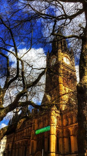Low Angle View Architecture Built Structure Travel Destinations Outdoors Building Exterior Sky Manchester United Kingdom Town Hall