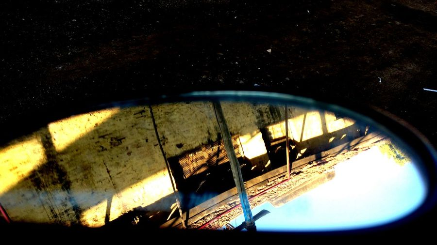 Bike Blur Close-up Contrast Funwithmiror Mirror No People Object Objectsinmirrorarecloserthantheyappear Outdoors
