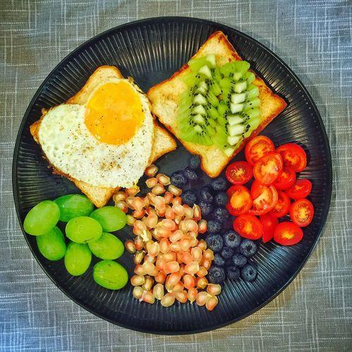 【❤️】这是昨天的!😂 春子私房菜 一个人生活 手机摄影 美食 早餐