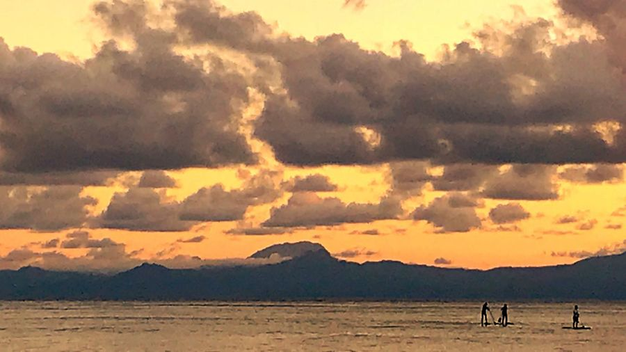 Dominica Paddleboard Sunset