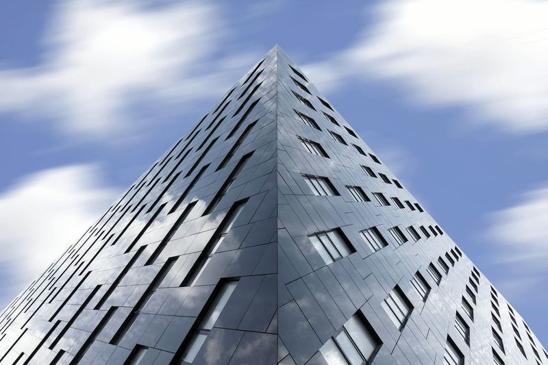 Learn & Shoot: Balancing Elements Architecture Building Building Exterior Modern Modern Architecture Façade Sky Motion Blur Skyscraper Abstract Symmetry Ballance Symmetrical Windows Photography In Motion The Architect - 2016 EyeEm Awards Your Design Story Fine Art Photography