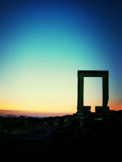 Sunset Sky Enjoying The Sunset Island Greece Naxos