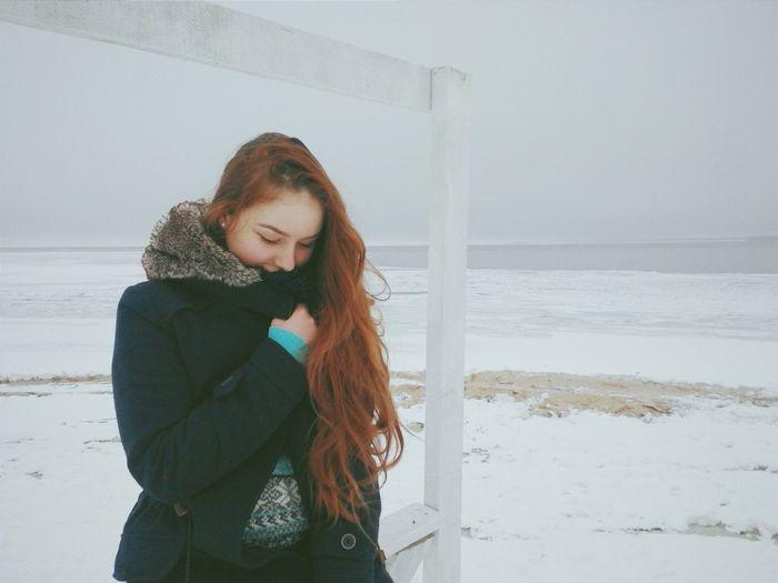 Relaxing Girl Ukrainian Girl Traveling Its Me Redhair Sea Journey