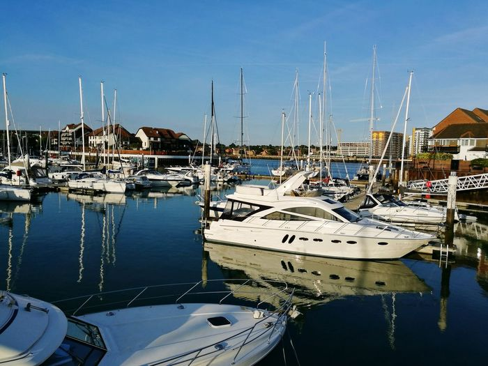 Nautical Vessel Water Harbor Moored Reflection Sea Marina No People Sailboat Yacht Sky Outdoors Day Mast Sailing Ship