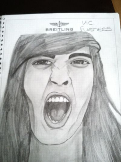 Vic fuentes Sketch Drawing Vic Fuentes Pierce The Veil
