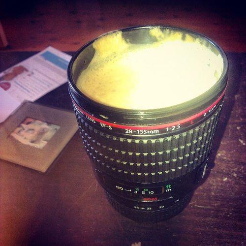 @randyocalypse the lens mug still lives! Teambadassmug Showusyourskillz I make a great coffee, but latte art isn't my thing.