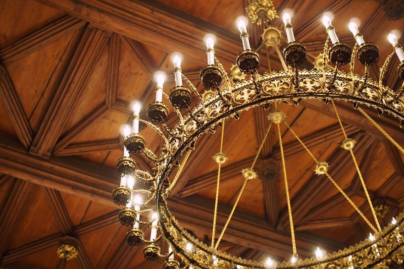 Chandelier in Landshut Rathaus Chandelier Candle Gold Low Angle View Ceiling Illuminated Lighting Equipment Hanging No People Indoors  Architecture Built Structure Day Wood Ceiling Medieval Medieval Architecture Landshut Rathaus Great Hall