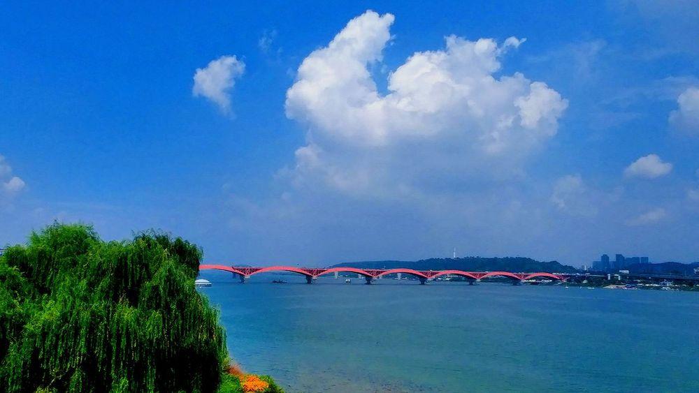 성산대교 & 선유도공원 Sky And Clouds Han River Bridge Han River Park Relaxing Bridge View Hangang In Seoul, Korea