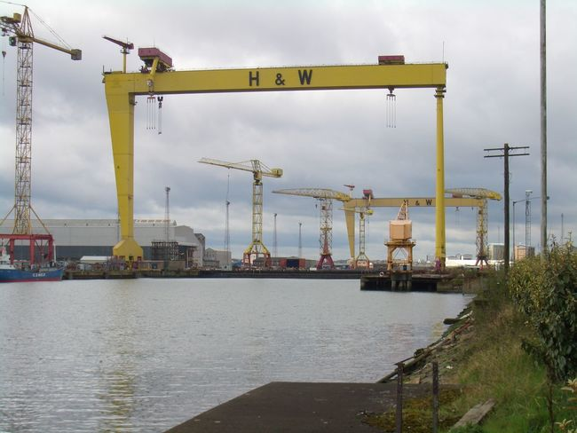 Belfast Built Structure City Cloud Cloud - Sky Cloudy Commercial Dock Crane - Construction Machinery Day Development Goliath Harbor Harland And Wolff Harland&Wolff Industrial Mast Nature No People Outdoors Samson Shipyard Sky Travel Destinations Water