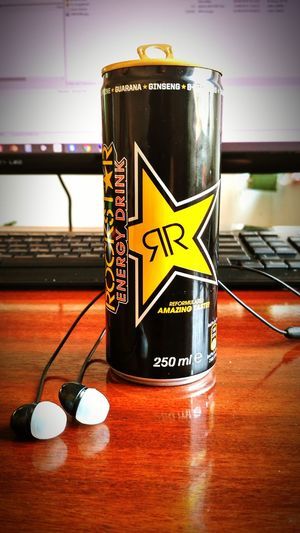 Communication Text Western Script Table Yellow Focus On Foreground No People Rockstarenergydrink Rockstar Drink Cans Rockstar Energy Drink ROCKSTAR Energy Drinks Rockstarlifestyle Rockstar Energy Rockstar ☆ Rockstarenergy Office
