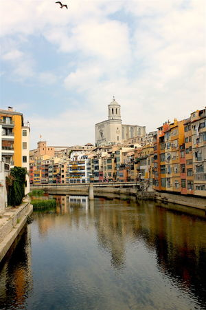 Architecture Canal Catalunya City Cloud - Sky Game Of Thrones Location Gameofthrones Girona Girona Cathedral No People Onyar Reflection River SPAIN Water Waterfront Bridge Postcard View Monument Seagull Bird Colors EyeEm Travel Photography Houses
