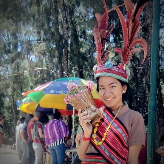 City of Pines💕 #JustMe #photography #Nature  #firstpicture #youngwoman #Baguio #smiling Headdress First Eyeem Photo