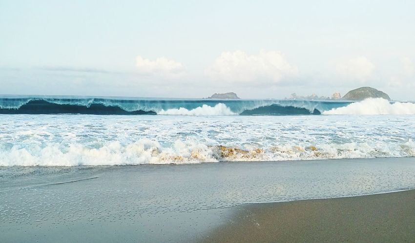 Beach Sea Sand Beauty In Nature Wave Horizon Over Water Vacations Landscape Ixtapa Beach