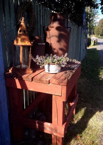 Rusty Things Milk Can Old Things Vintage Vintage Stuff Summer Hanging Out Taking Photos Lantern Flower Gravel Road