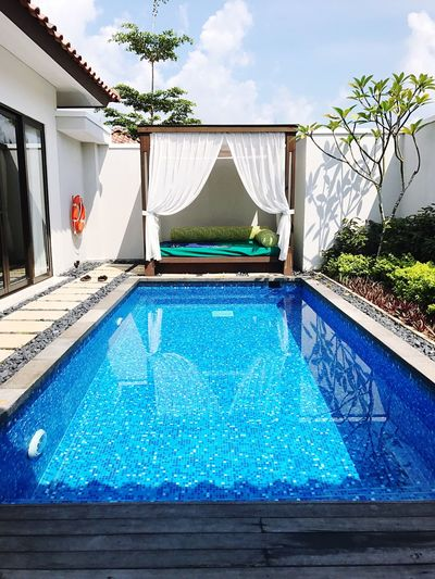 pool villa Swimming Pool Water Day Outdoors No People Luxury Tree Architecture Poolside Pool Villa