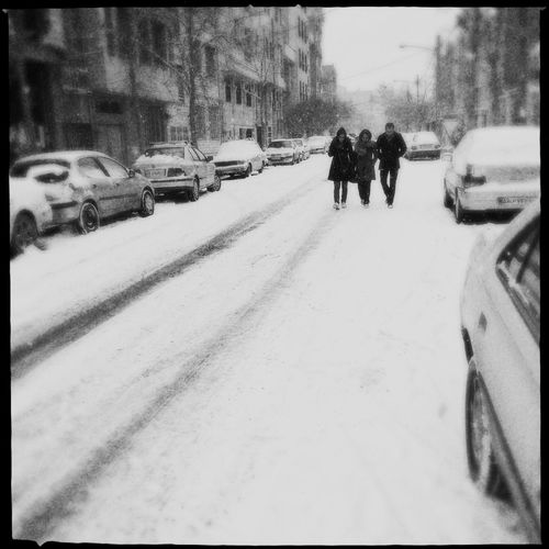 Tehran under a heavy snow. Leftover from my photowalk on the coldest day of the winter in Tehran. Streetphotography Blackandwhite WeAreJuxt.com AMPt - Street