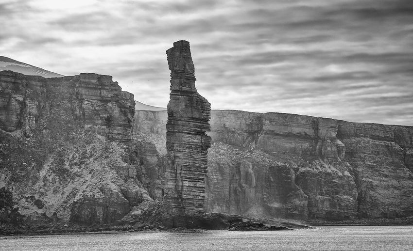Island Of Hoy Old Man Of Hoy - Okney Torr Orkney Islands Rock Face Tourist Attraction  Cliffs And Water Day monochrome photography No People Rock - Object