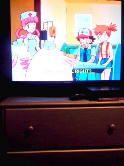 Watching Pokemon <3 been ahile lol My Lil One Is Enjoying The Show ^.^ never thought my son would like the show (: