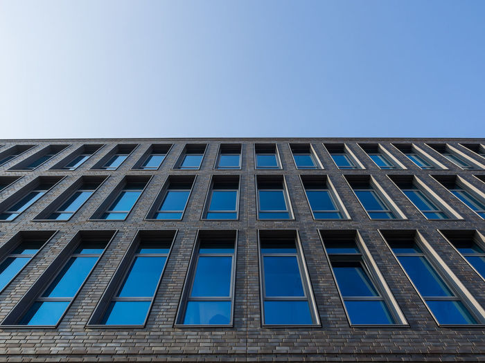 Berlin architecture Berlin Berlin Photography Friedrichshain Architecture Berliner Ansichten Blue Building Exterior Built Structure City Clear Sky Day Low Angle View Modern No People Outdoors Sky Window
