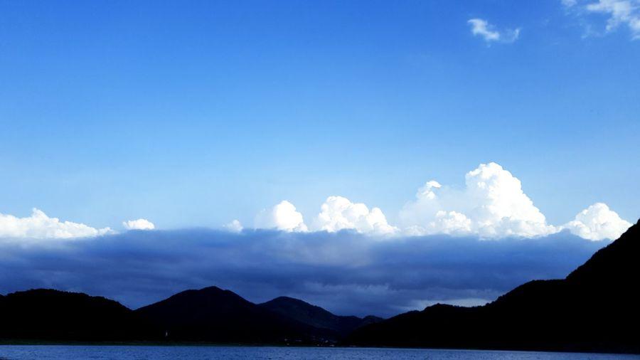 SKY, NATURE, SNAPSHOT, SMALL LAKE