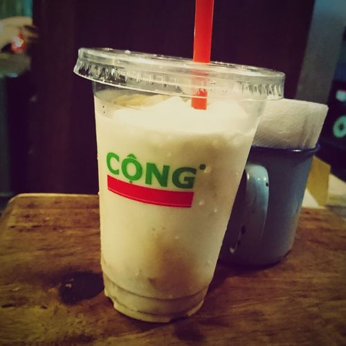 Coconut Coffee Hanoi at Congcaphe