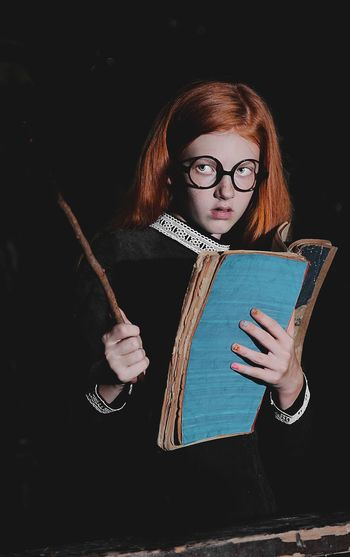 WITCH Girl Young Red Redhead Redhair Red Hair Young Girl Red Head Red Head Girl Glasses Hogwarts Slytherin Halloween Business Vampire Witch The Portraitist - 2019 EyeEm Awards My Best Photo