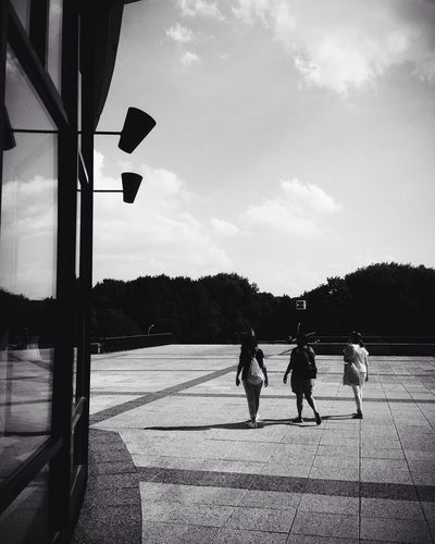 'Three Is A Magic Number' Blackandwhite Sky And Clouds People Watching