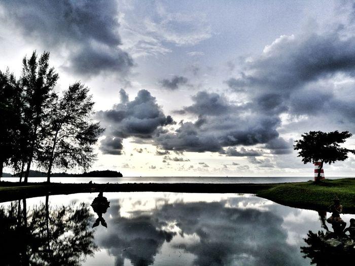 semi cloudy day