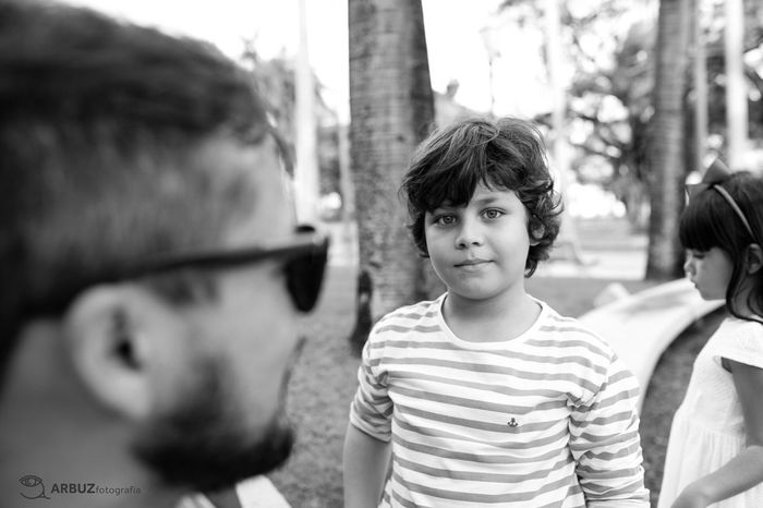 EyeEm Selects Childhood Real People Outdoors Portrait Familyphotography Children Photography Blackandwhite Photography Lifestyles Street Photography Fatherhood Moments Blackandwhiteportrait